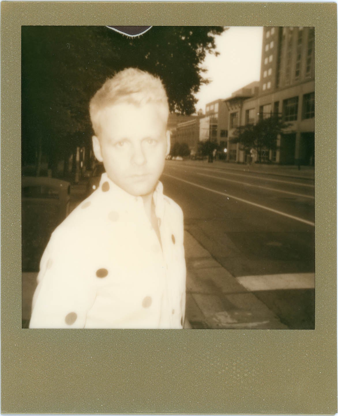 Impossible Project Portrait with Polaroid