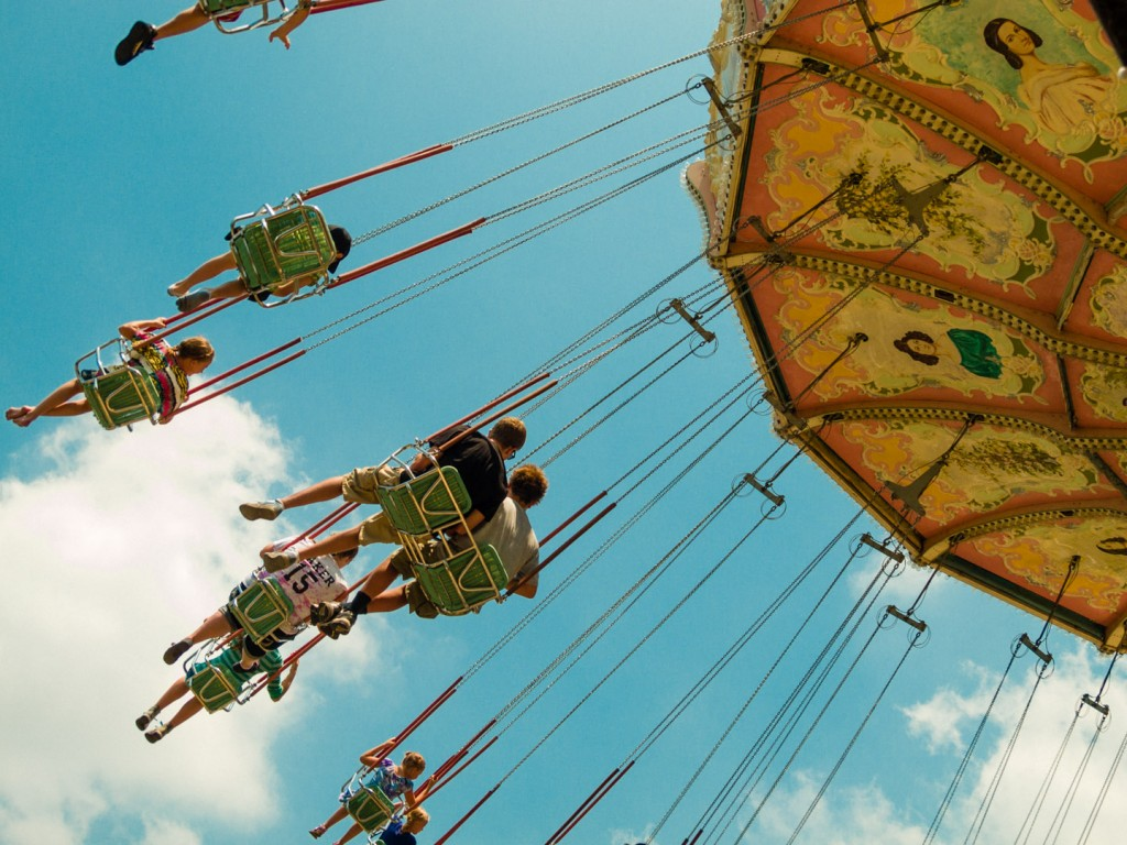 Swings at Lagoon