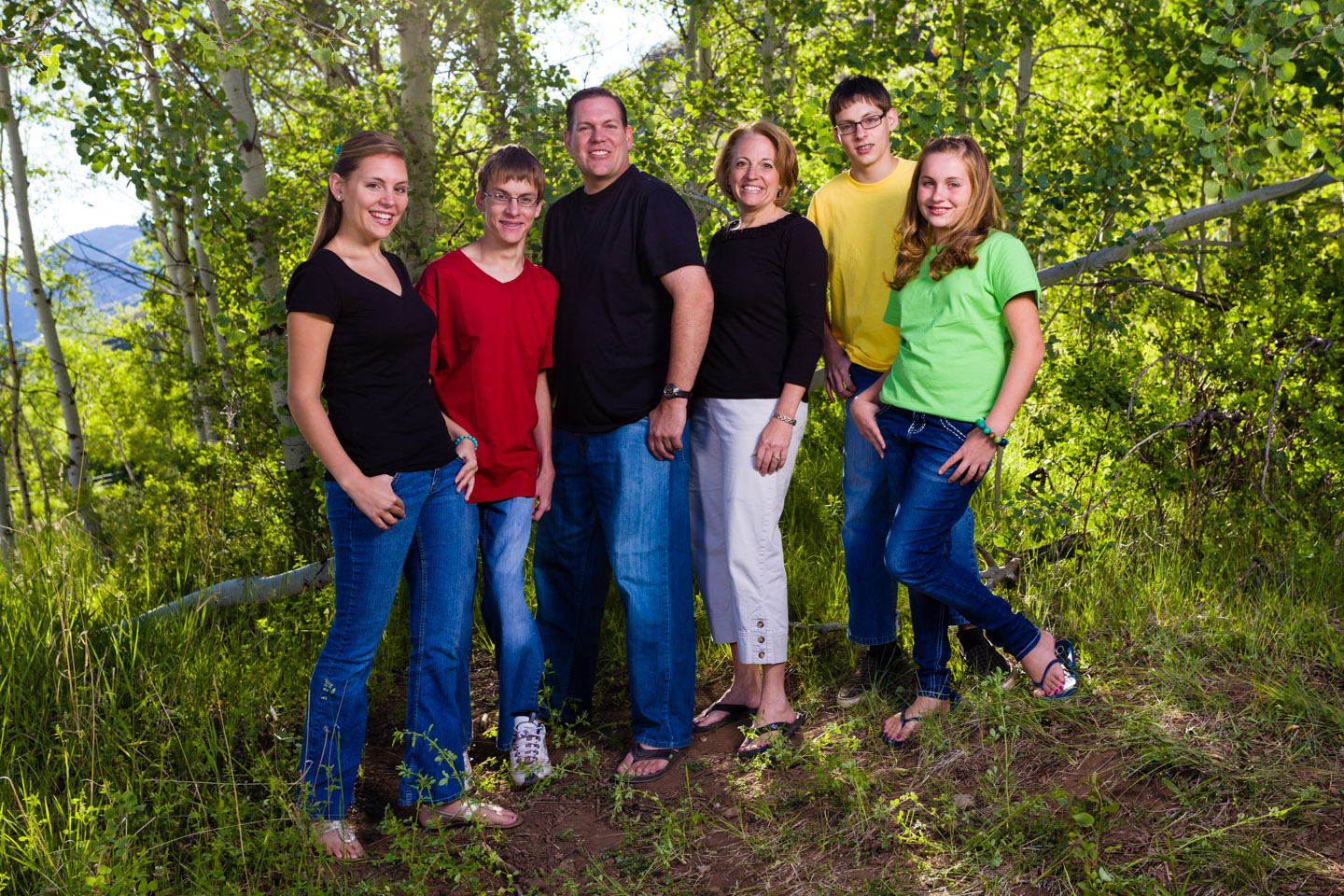 Photograph the individual families