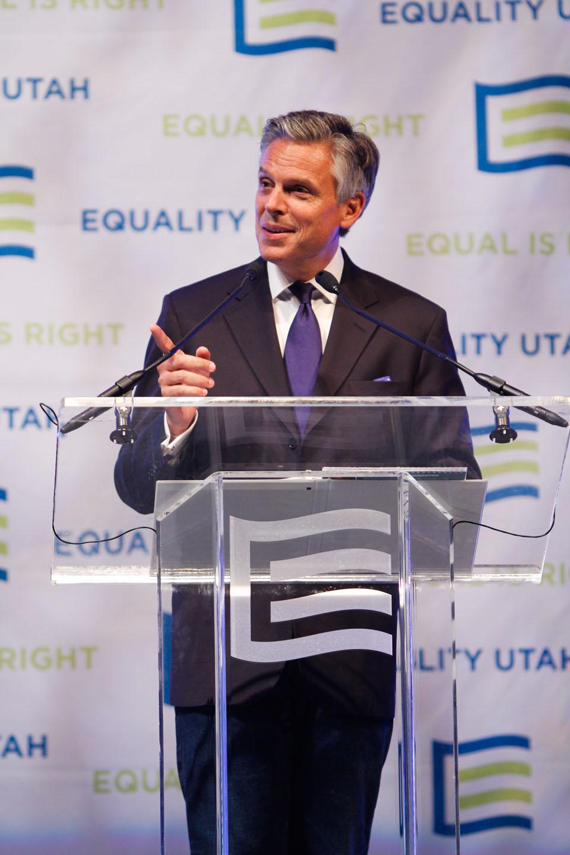 Governor Jon Huntsman addresses Equality Utah