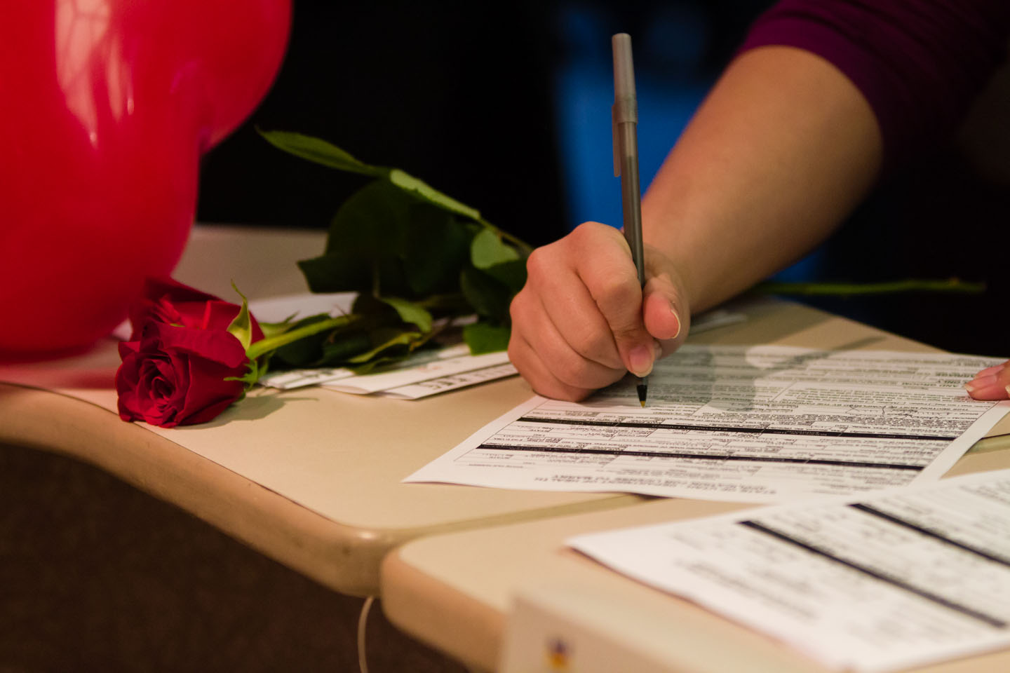 Same sex couples apply for marriage license