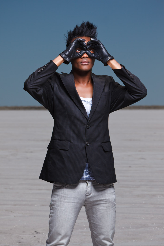 Sahil models fashion on the Salt Flats