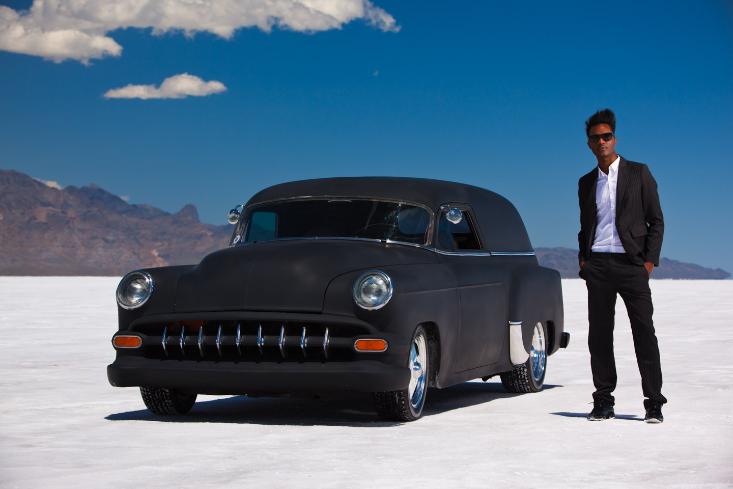 A classic car lets us use it for a shot or two.