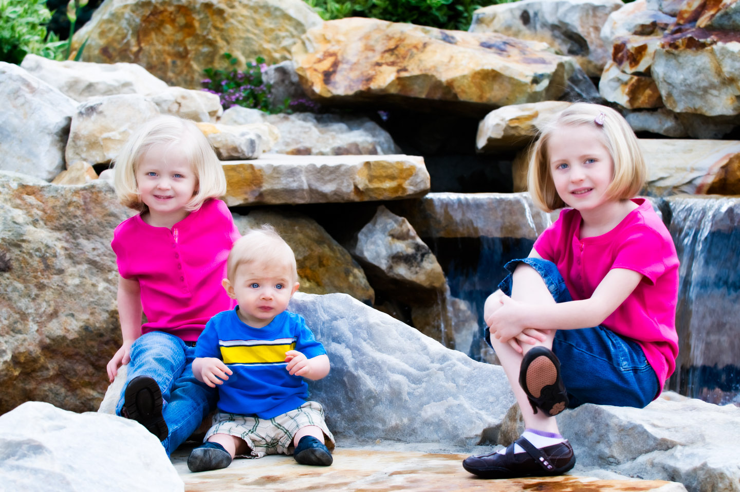 The Bush Kids and the BYU waterfall
