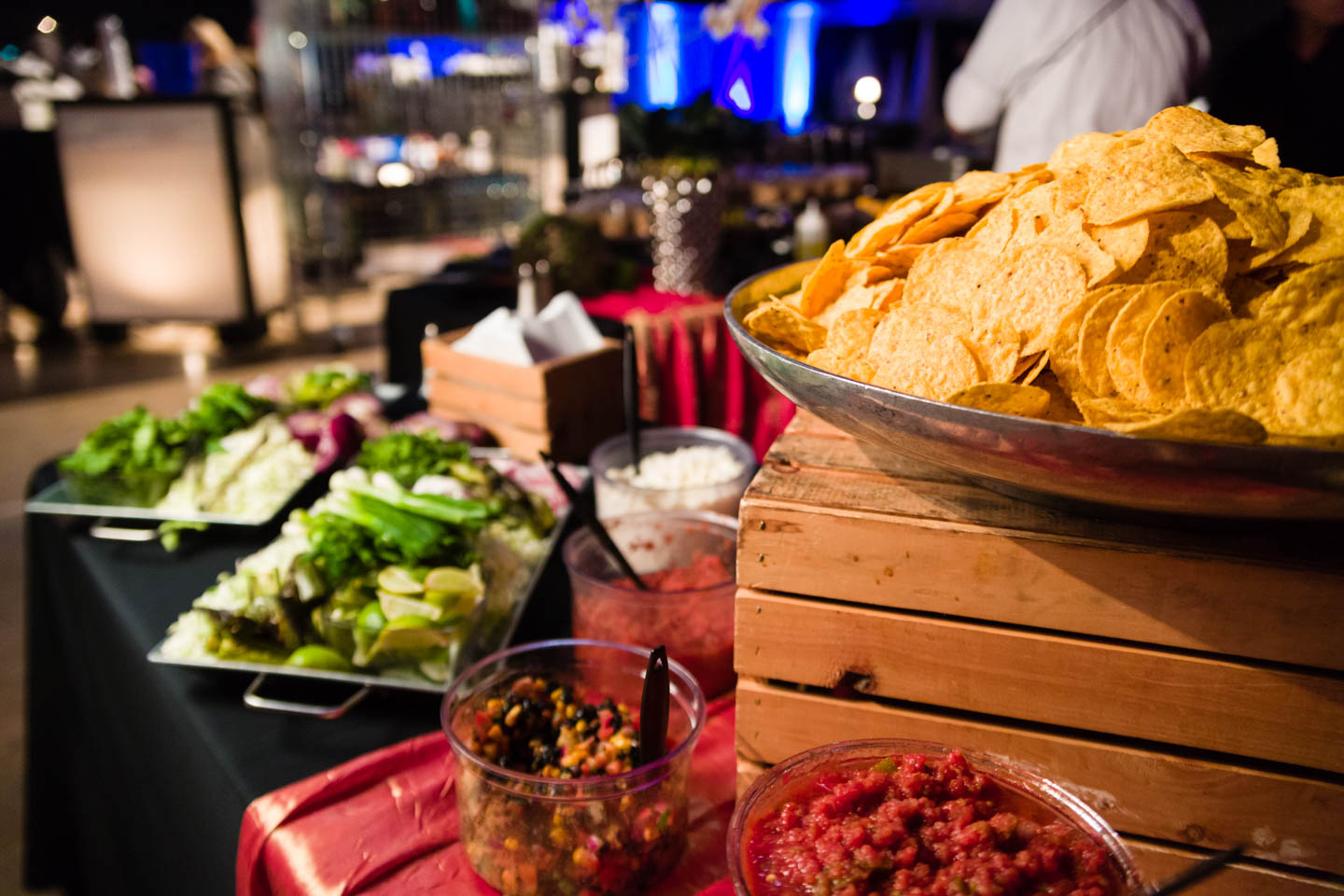 Chips and salsa for street tacos