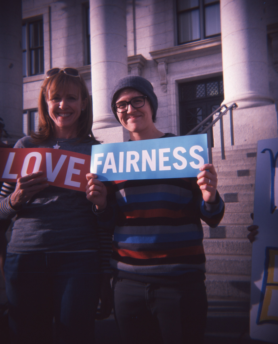 Supporting Love and Fairness at a Political Rally