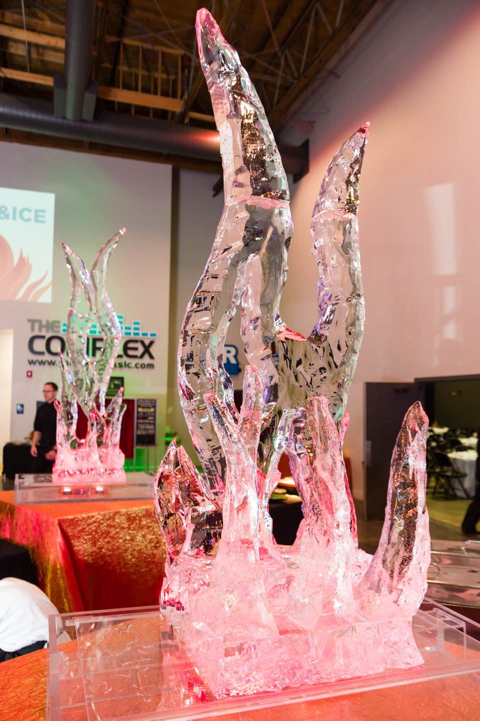 Ice sculptures at The Complex