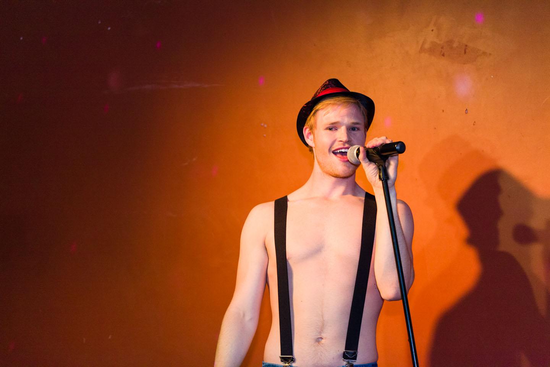 Take your shirt off for Karaoke Night