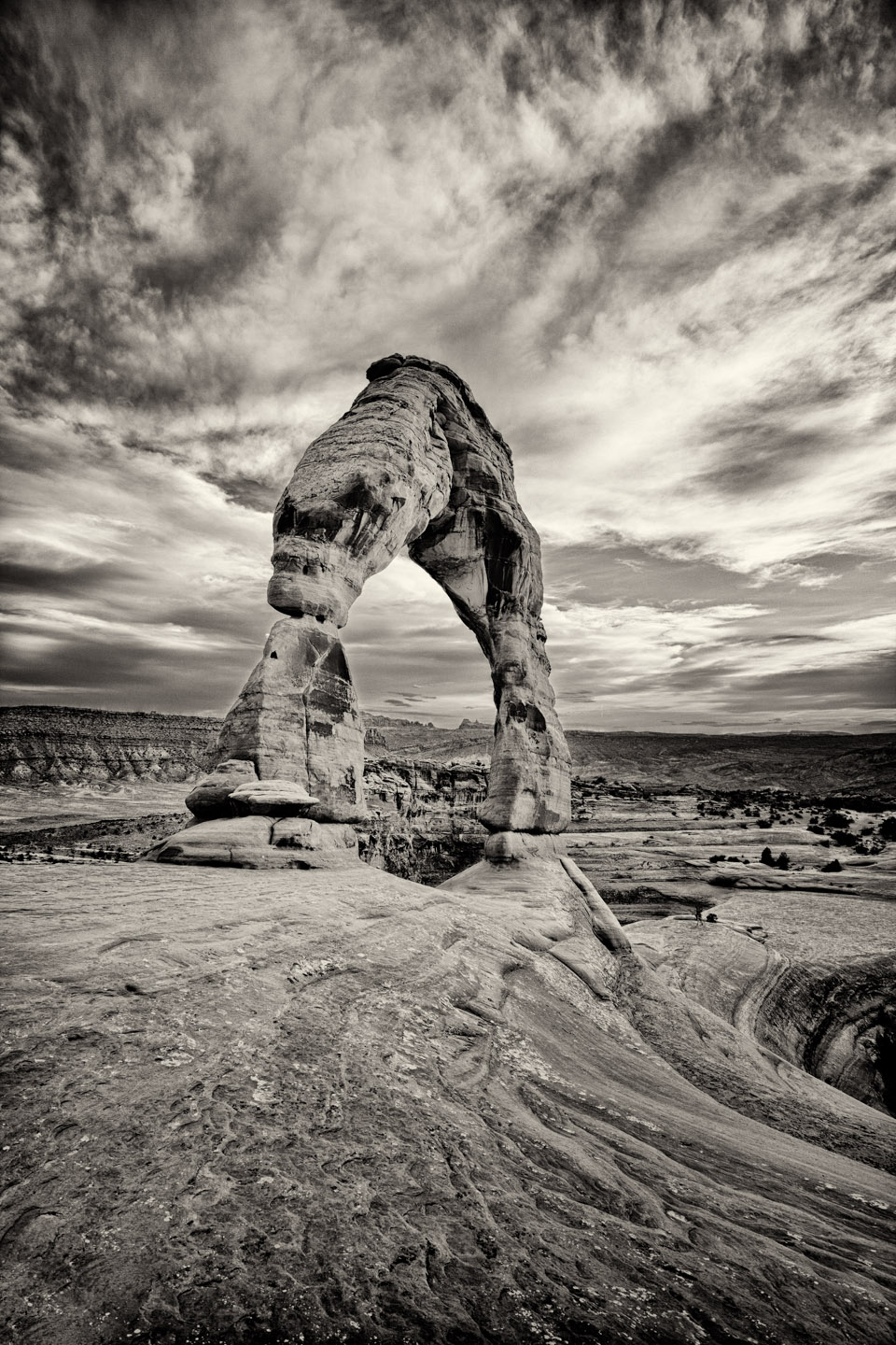 Moab Delicate Arch in Black and white