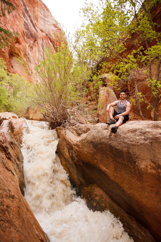 Kanarraville Creek Canyon Waterfalls