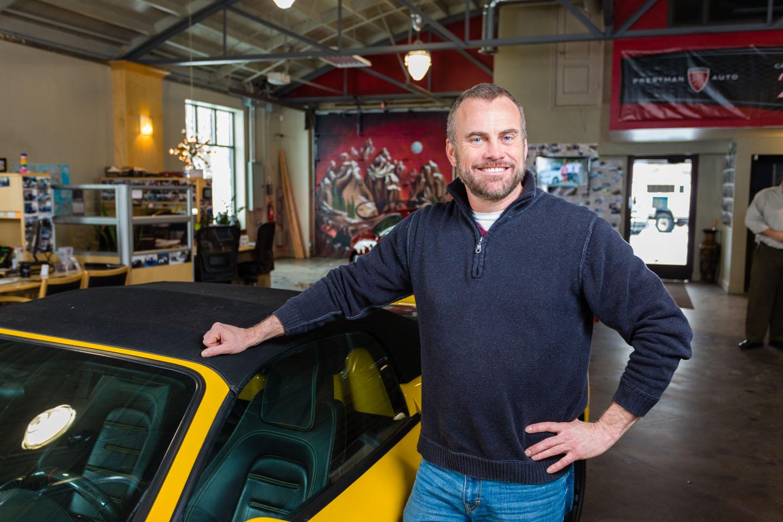 Standing next to the yellow Ferrari
