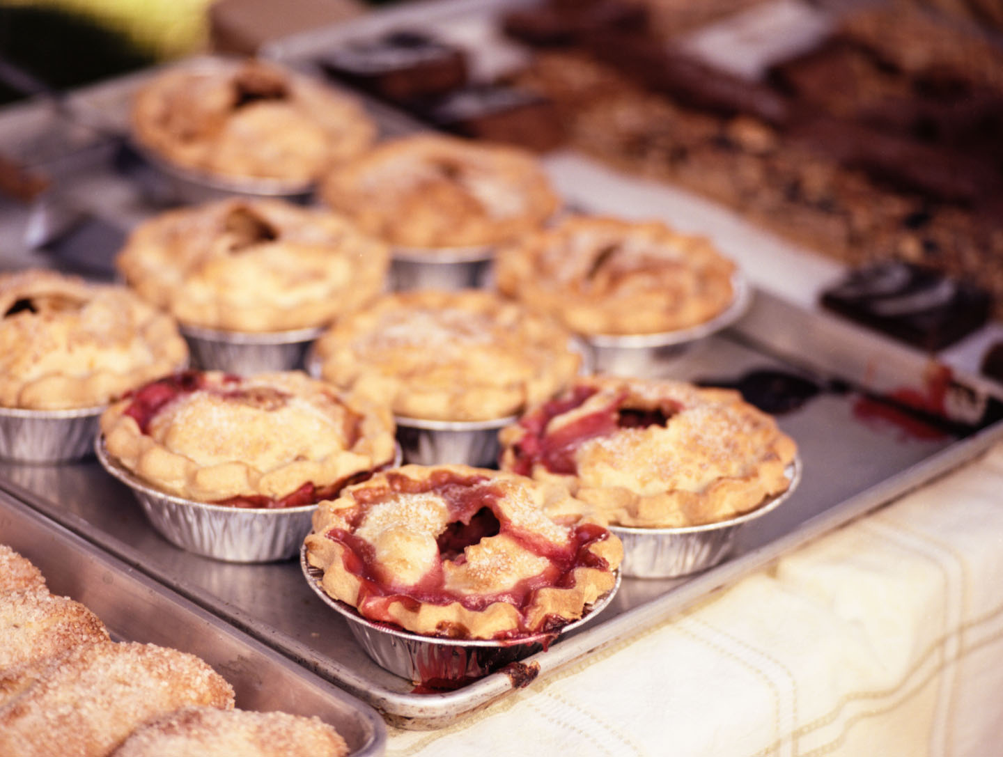 Cherry pies at Salt Lake Farmers Market