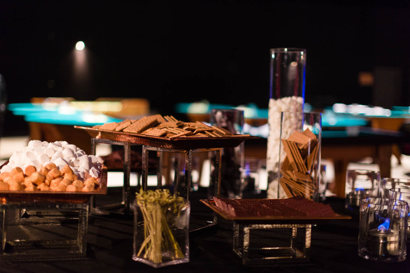 S'mores station at The Complex by Le Croissant Catering