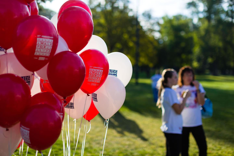 Walk for Life balloons