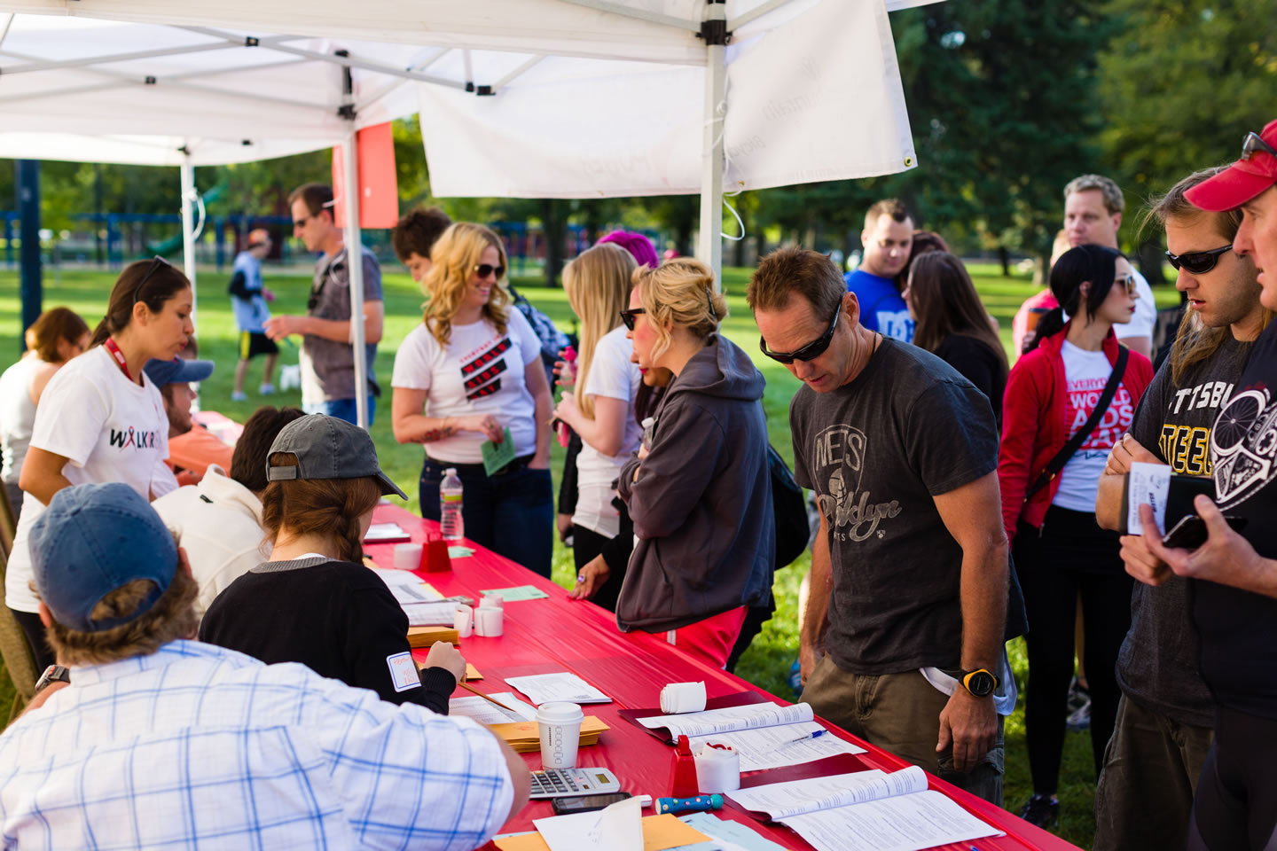 Walkers sign up for the Walk for Life