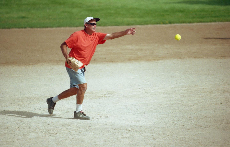 Pitcher in orange