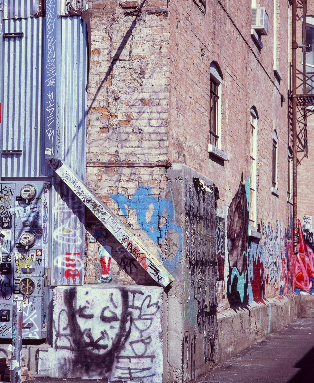 Exploring alleyways in Salt Lake