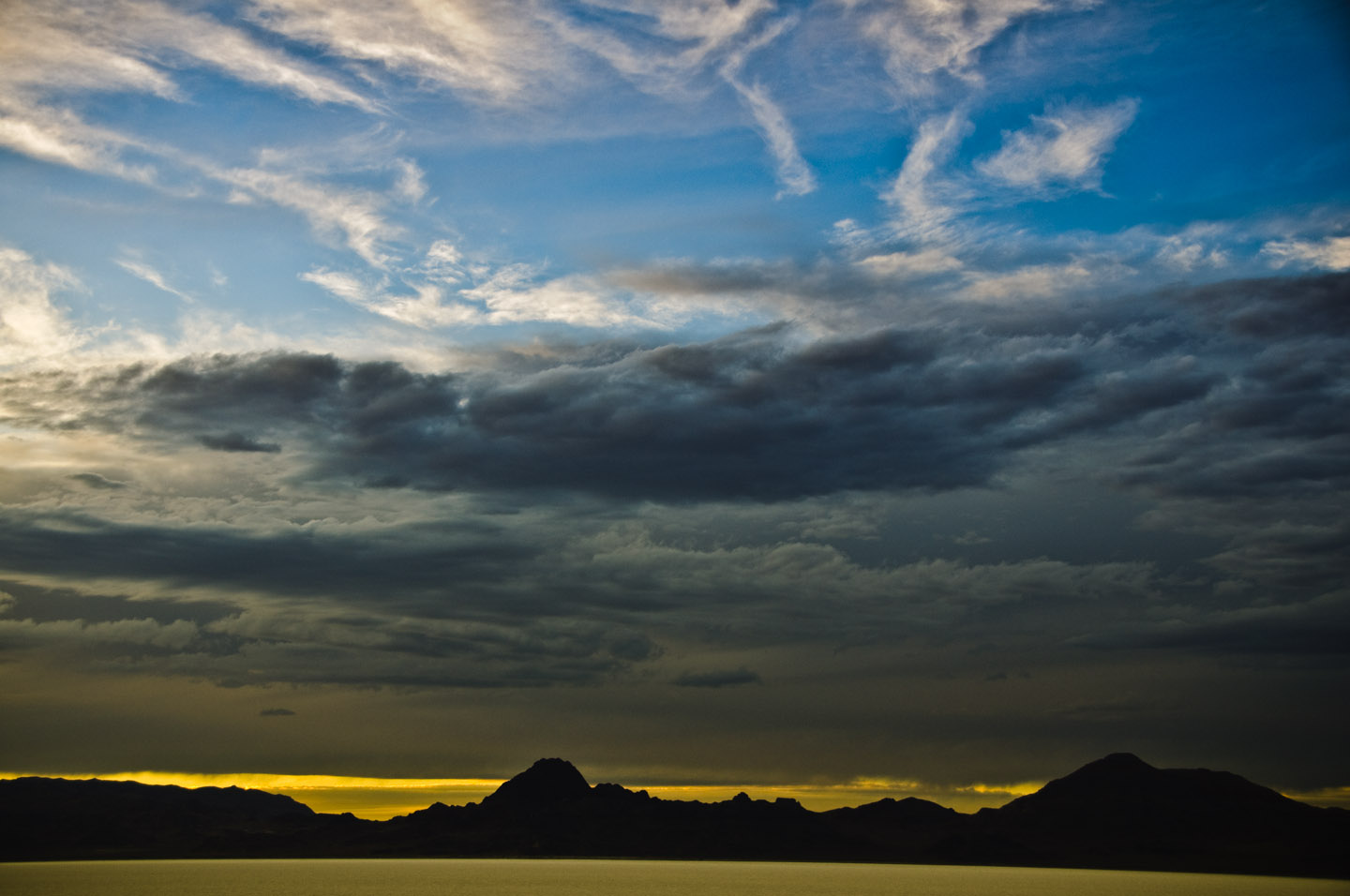 Sunsets on the Bonneville Salt Flats