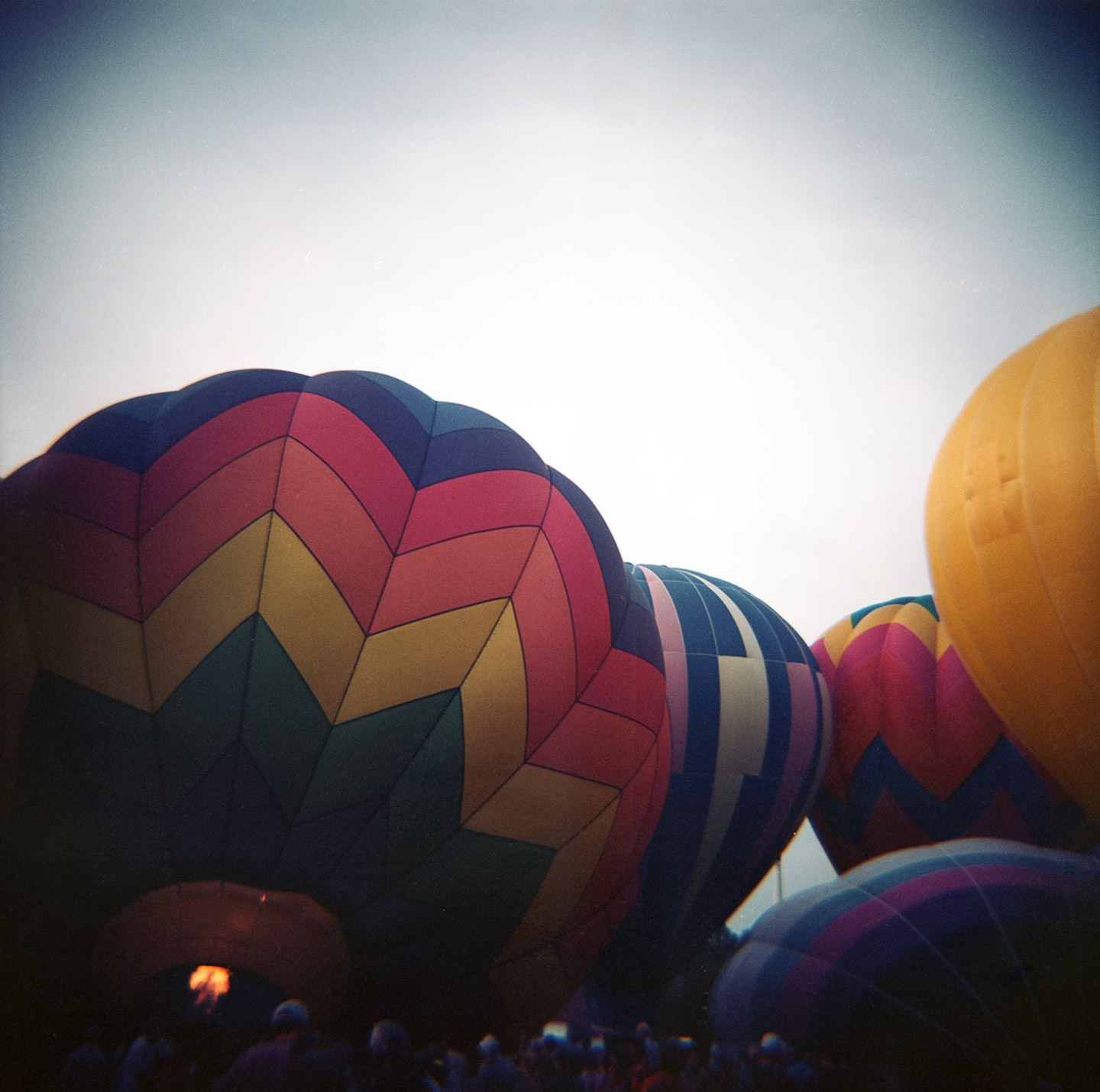 Hot Air Balloons Inflate for the Freedom Festival