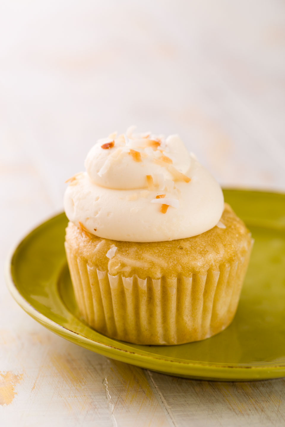 Vegan coconut cupcake from Whole Foods