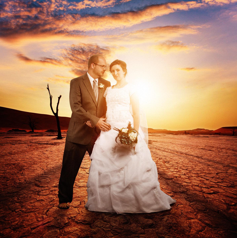 Joel & Carissa in the desert