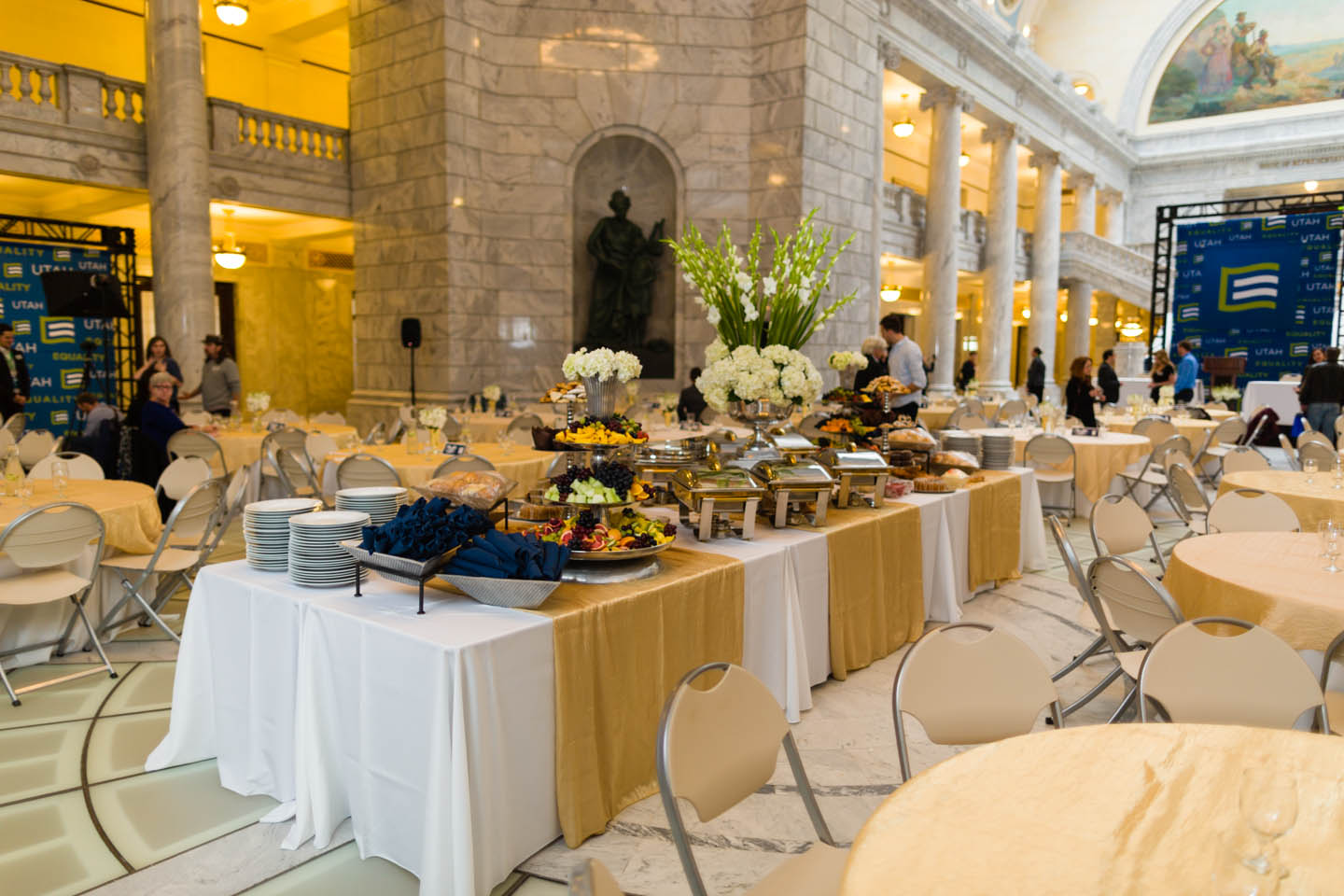 Brunch at the Utah State Capitol's Rotunda