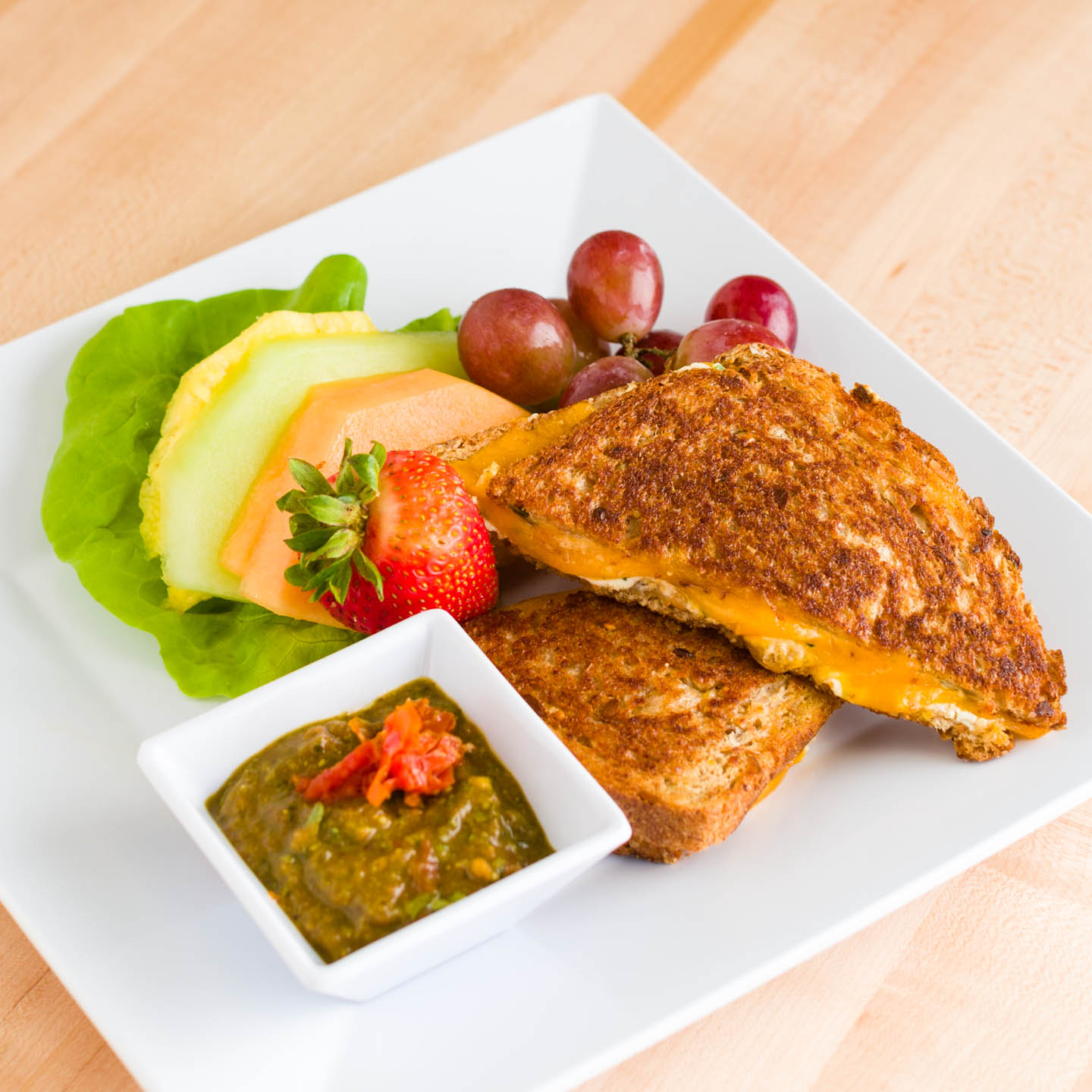 Grilled cheese with Neufchatel cheese
