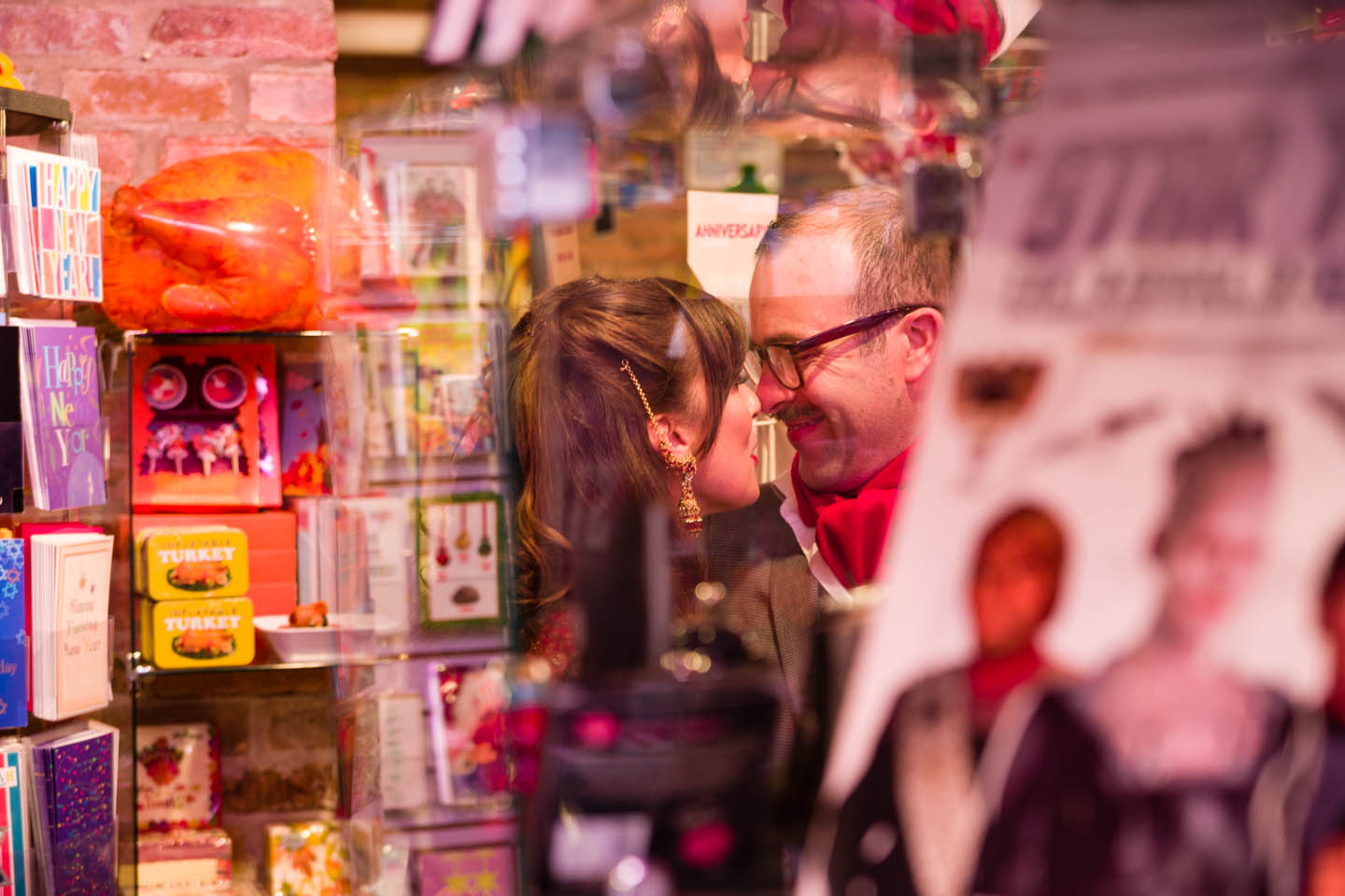 Finding the unique wedding photos in a novelty shop