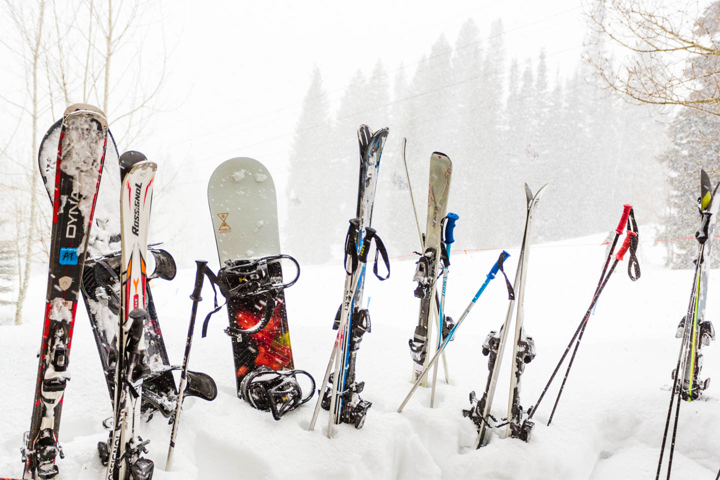 Snowboards & Skis at Snowbird Resort in Utah