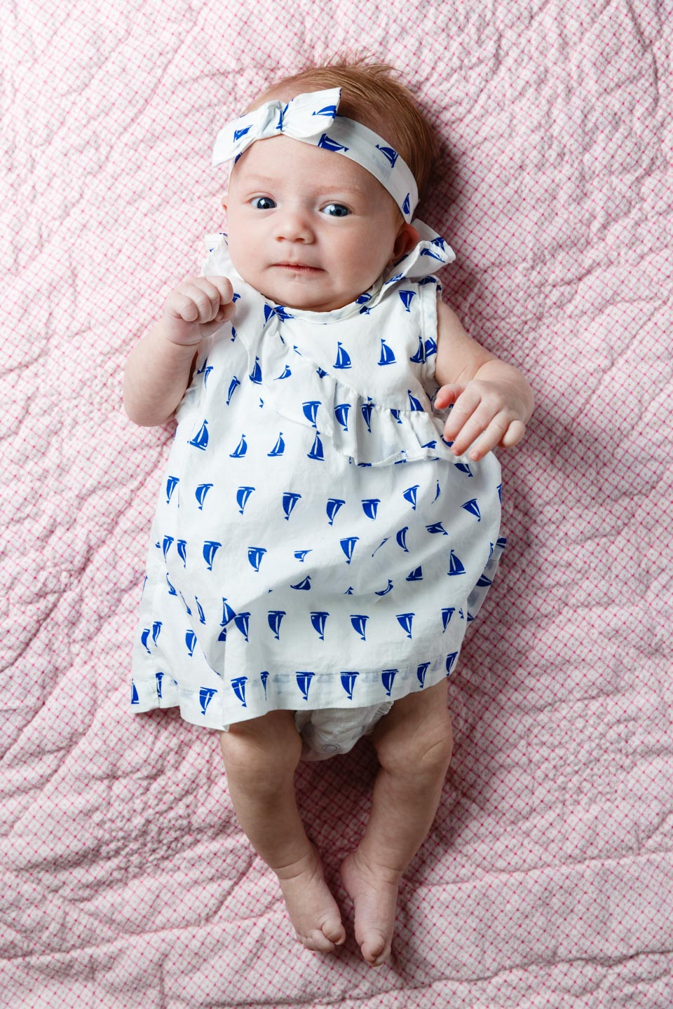 Modeling different baby outfits