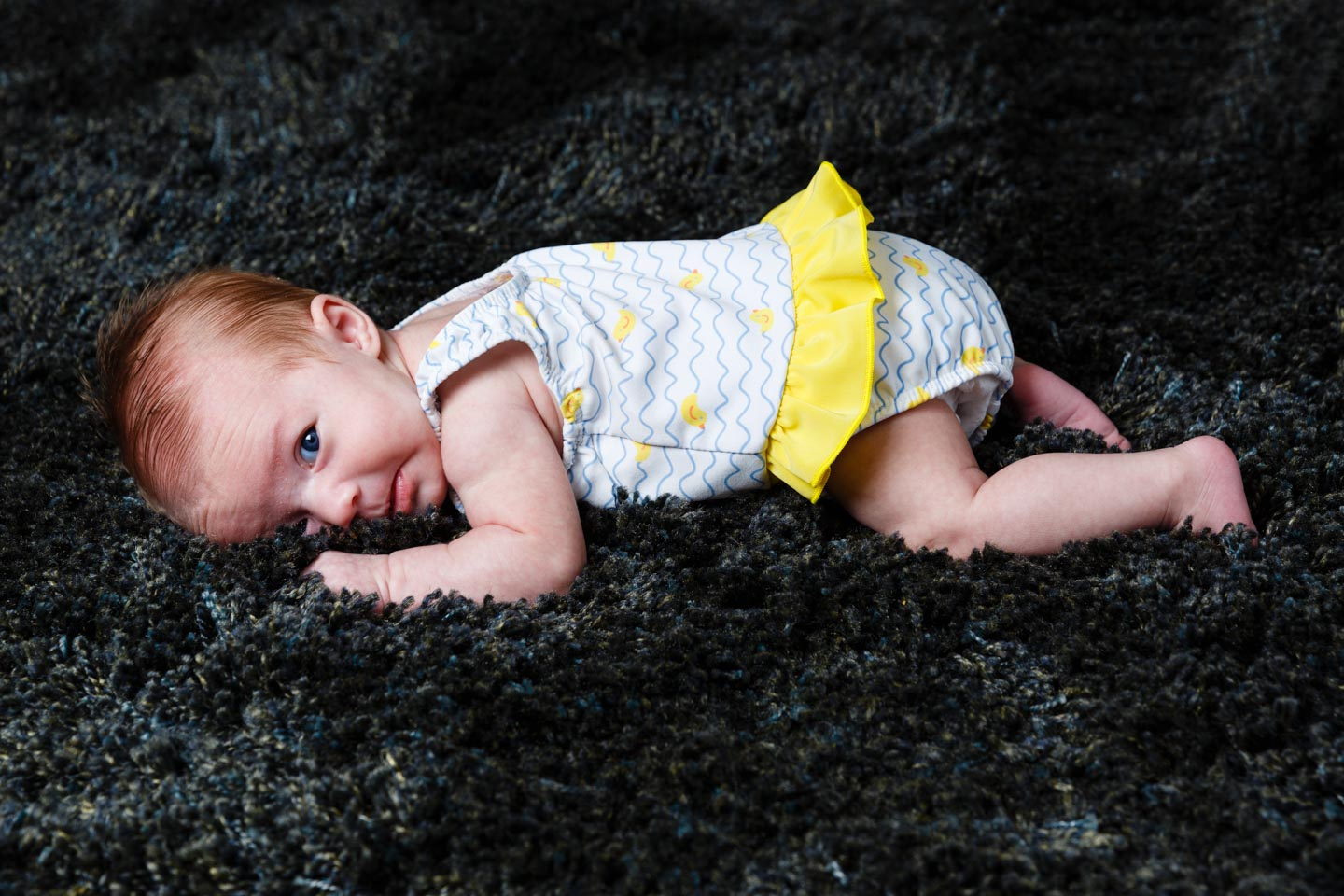 Baby Molly's first photo shoot