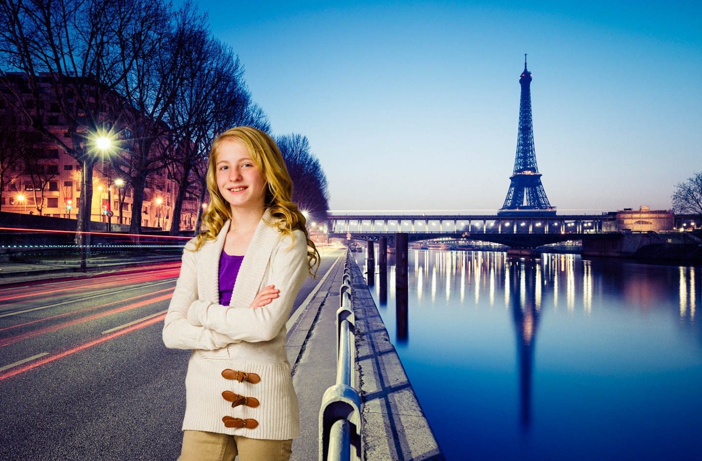 Maren is excited about Paris and Photoshop is cheaper than a plane ticket
