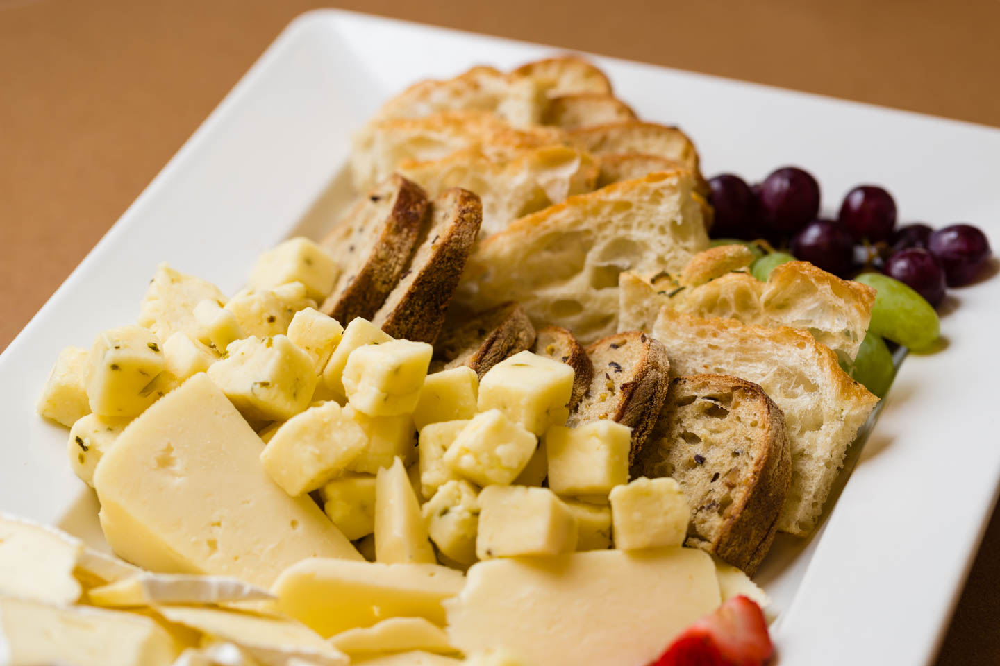 Cheese, Bread, and Grapes