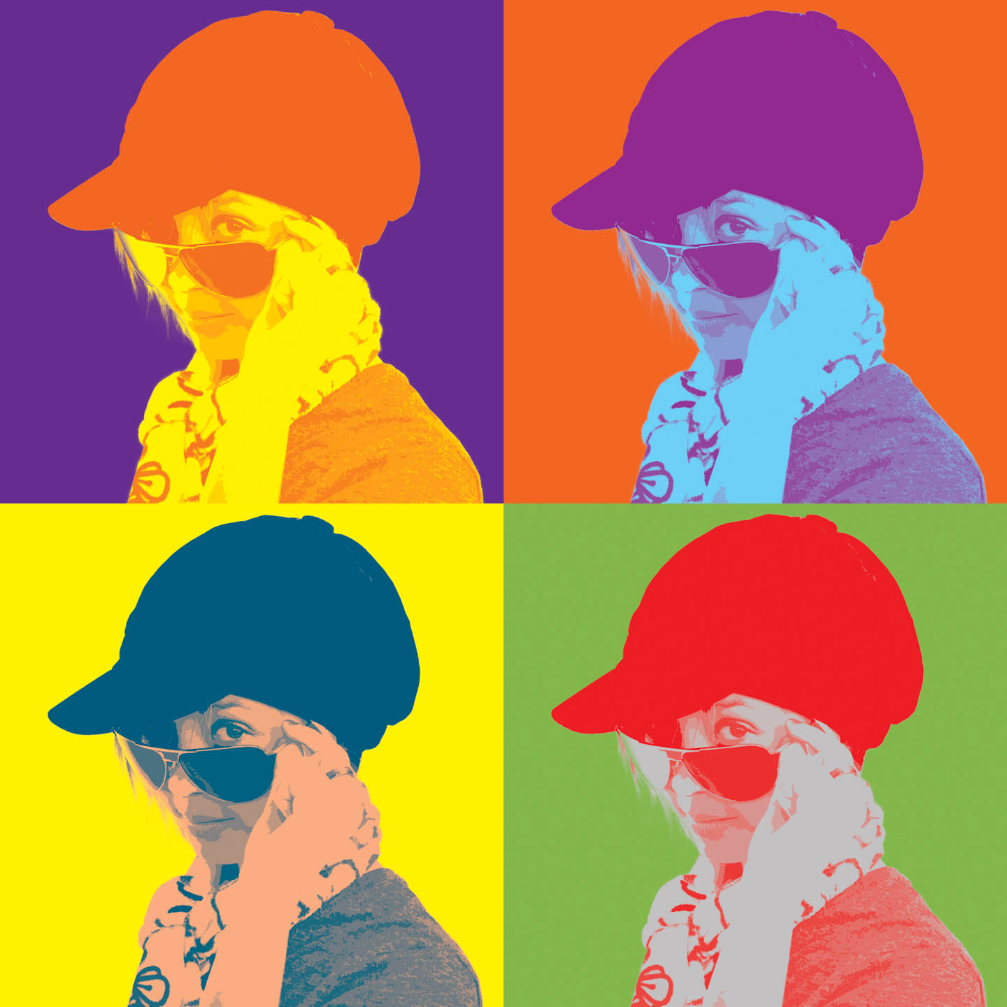 Andy Warhol style photograph