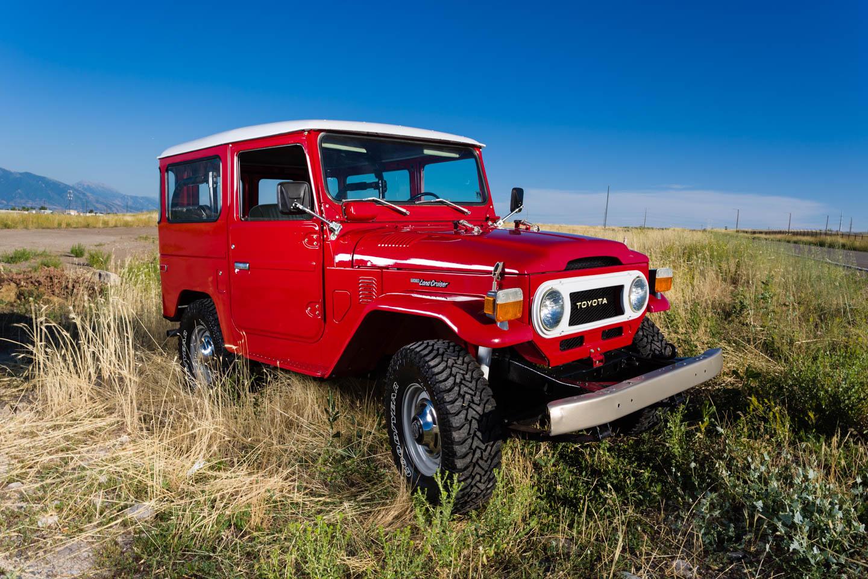 Red Toyota Land Cruiser