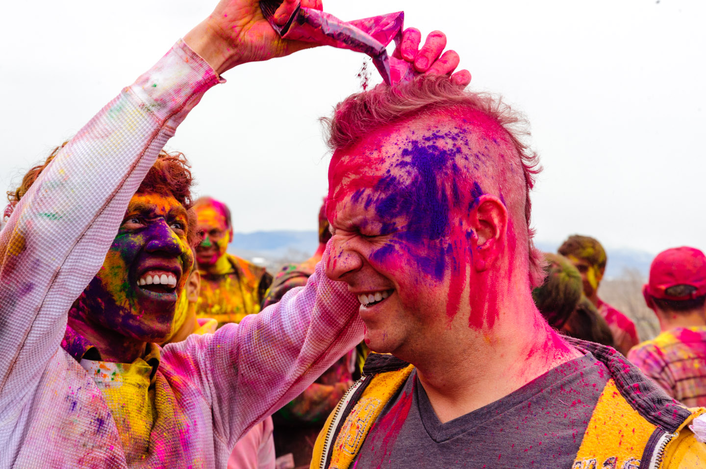 dav.d at the Holi Color Festival photographed by Jarvie
