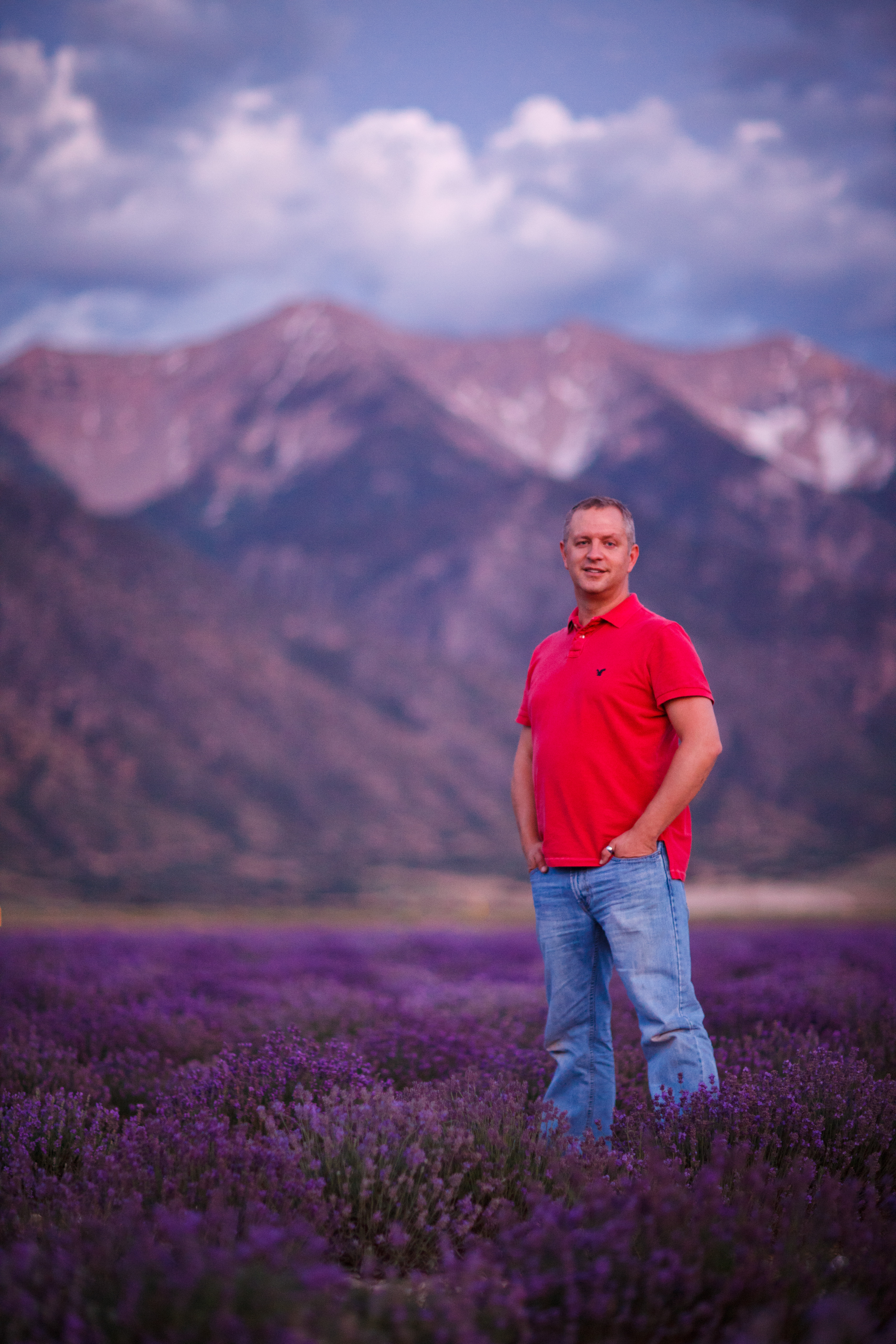 dav.d at the Lavender Fields of Mona, Utah and photographed by Nicolesy
