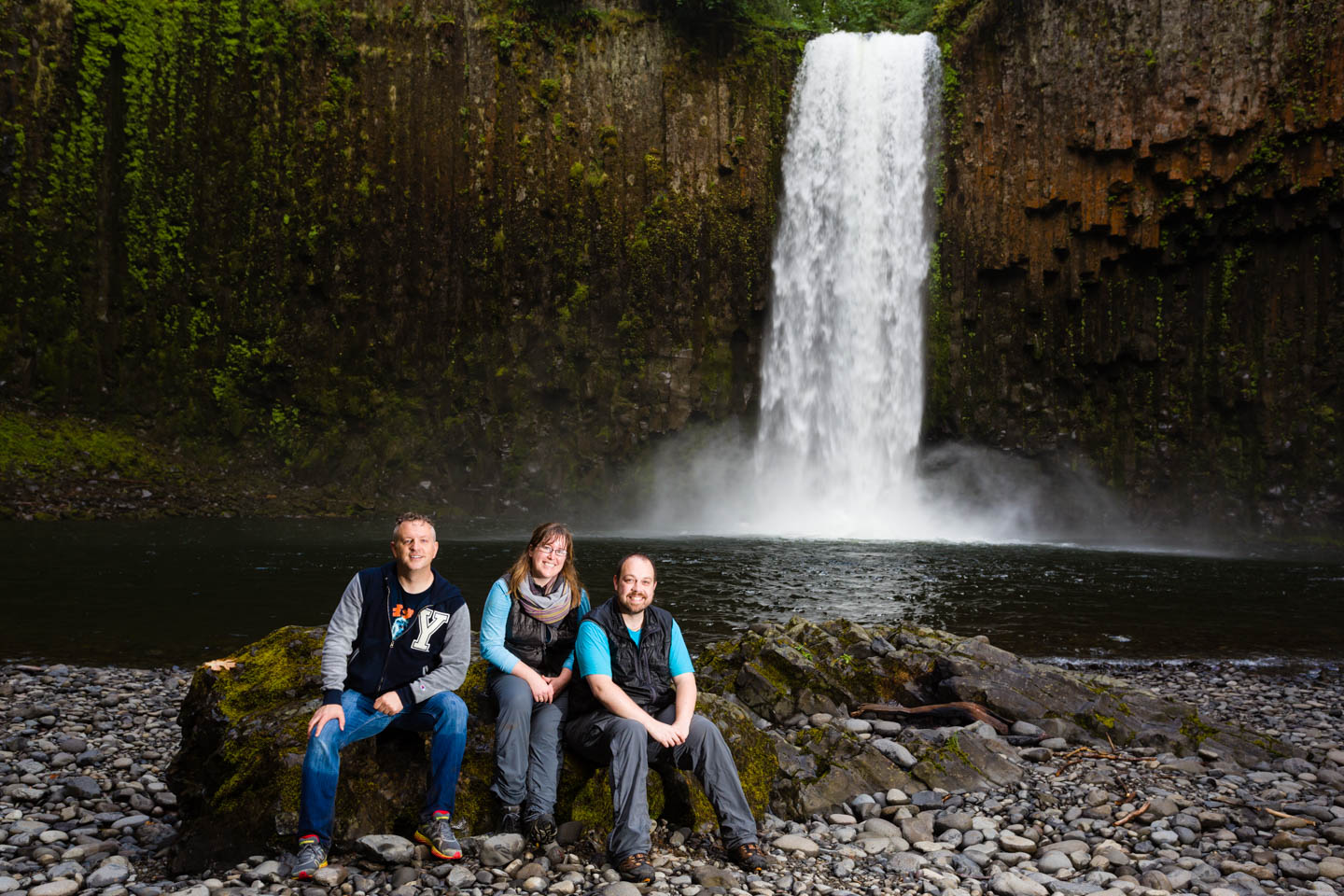 Hanging with my photo buddies at Abiqua Falls