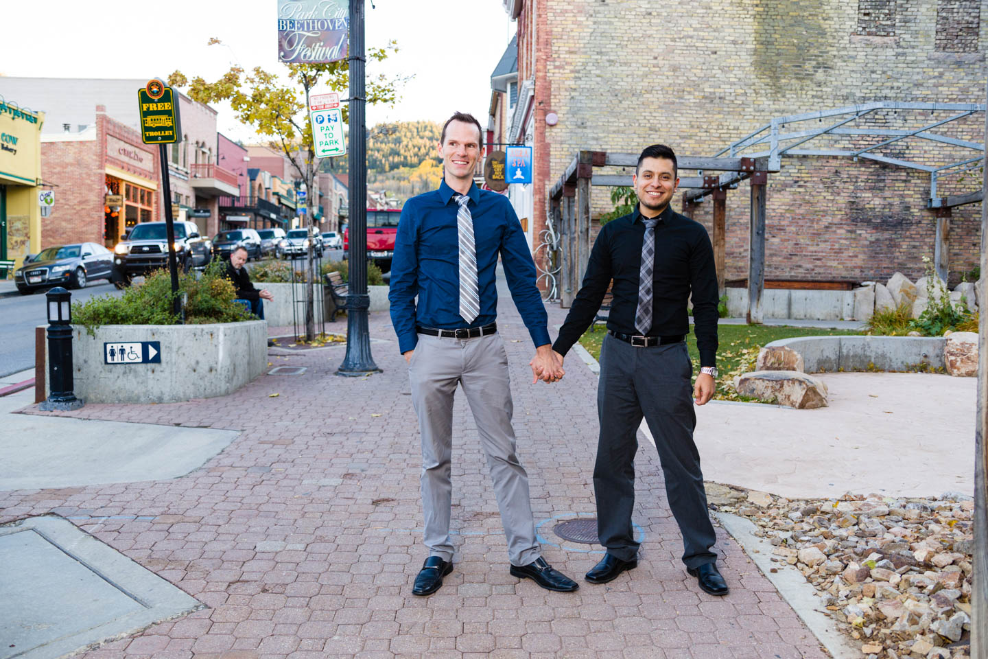 Park City's Main Street is awesome for engagement or portrait photography.
