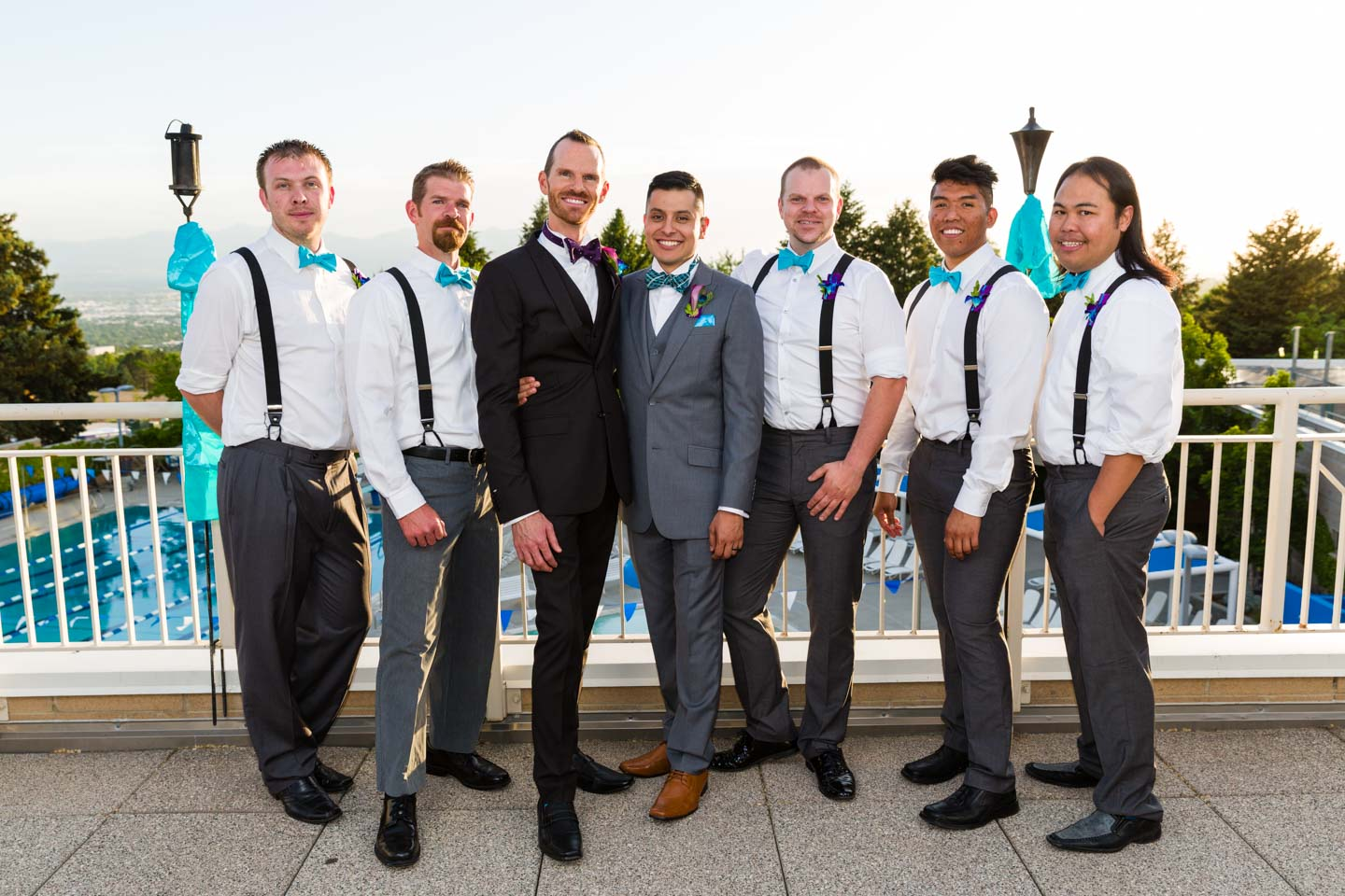 Grooms with the groomsmen