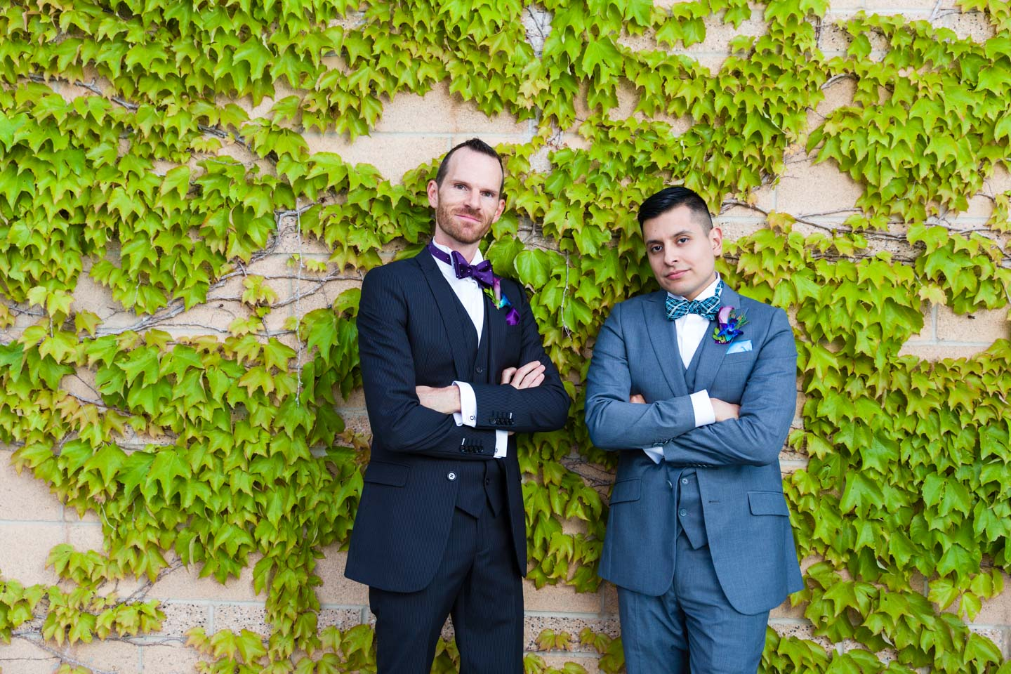 Grooms looking cool