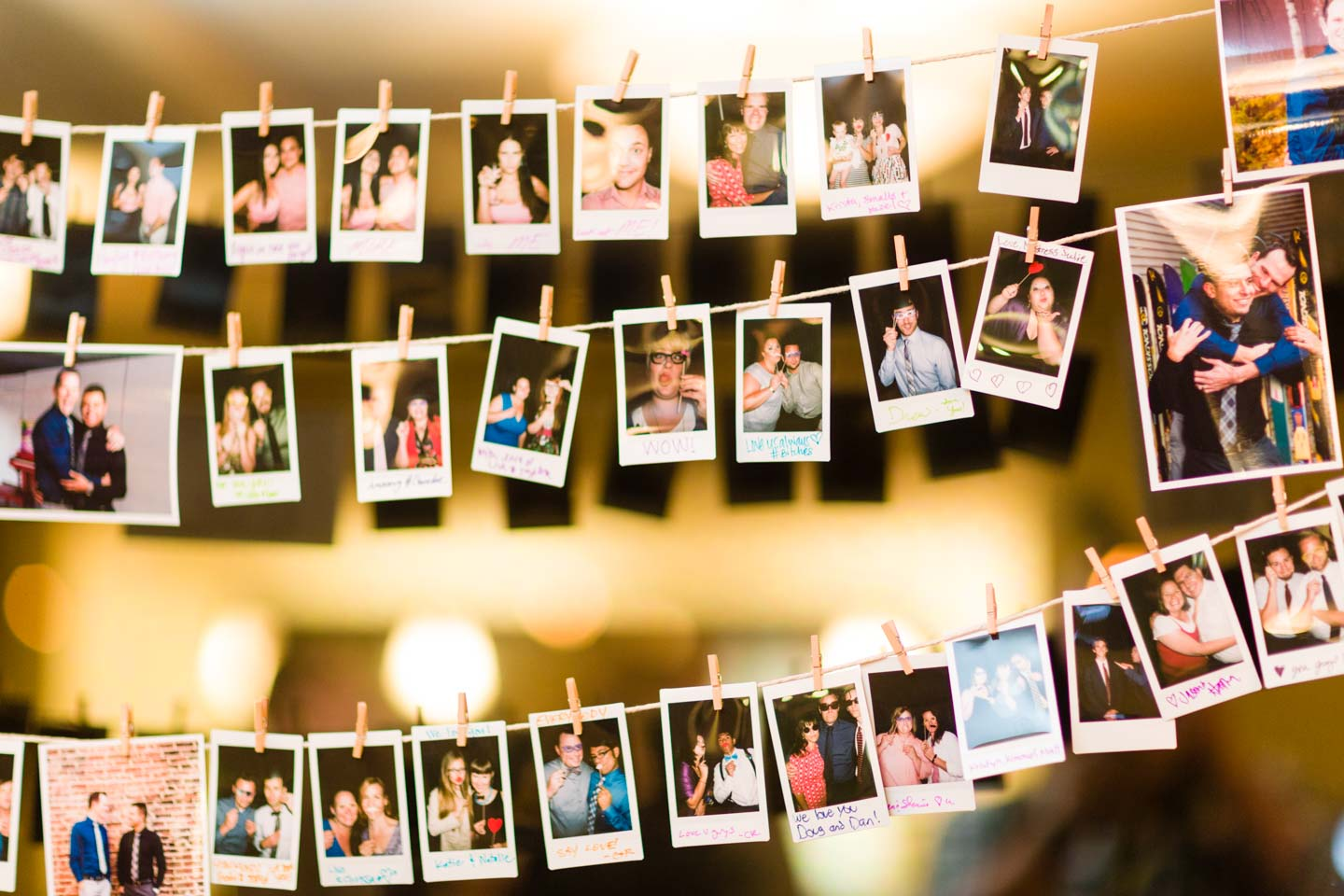 Wedding guests were asked to dress up and get their photo created with a Fuji Instax