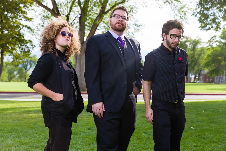 Eric and his siblings pose like rockstars