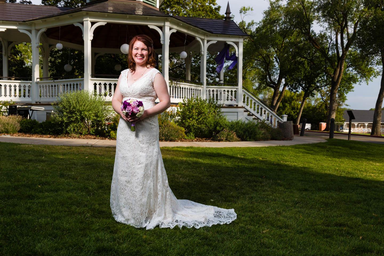 A more formal bridal portrait