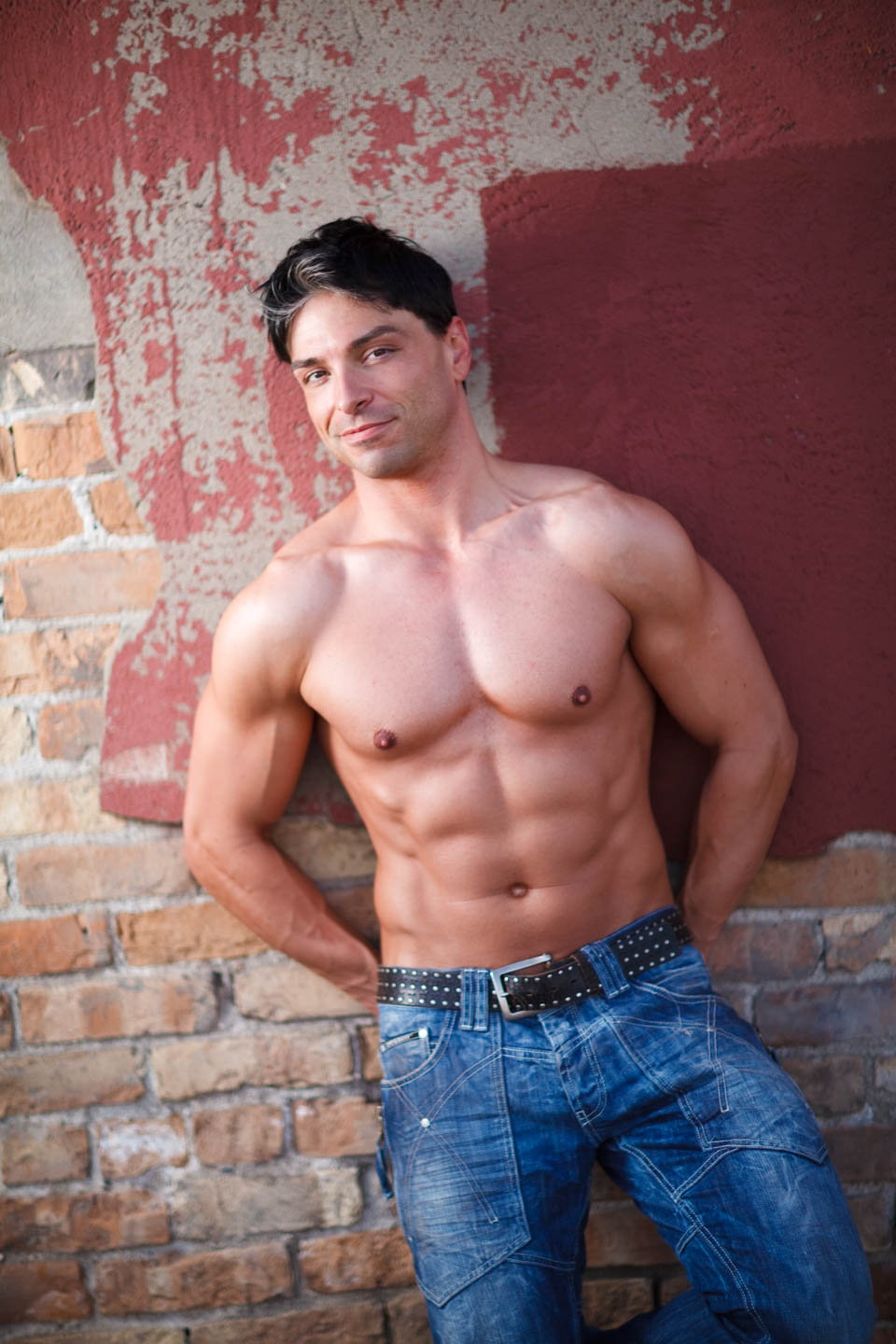 Lighting helps to feature Graham's physique