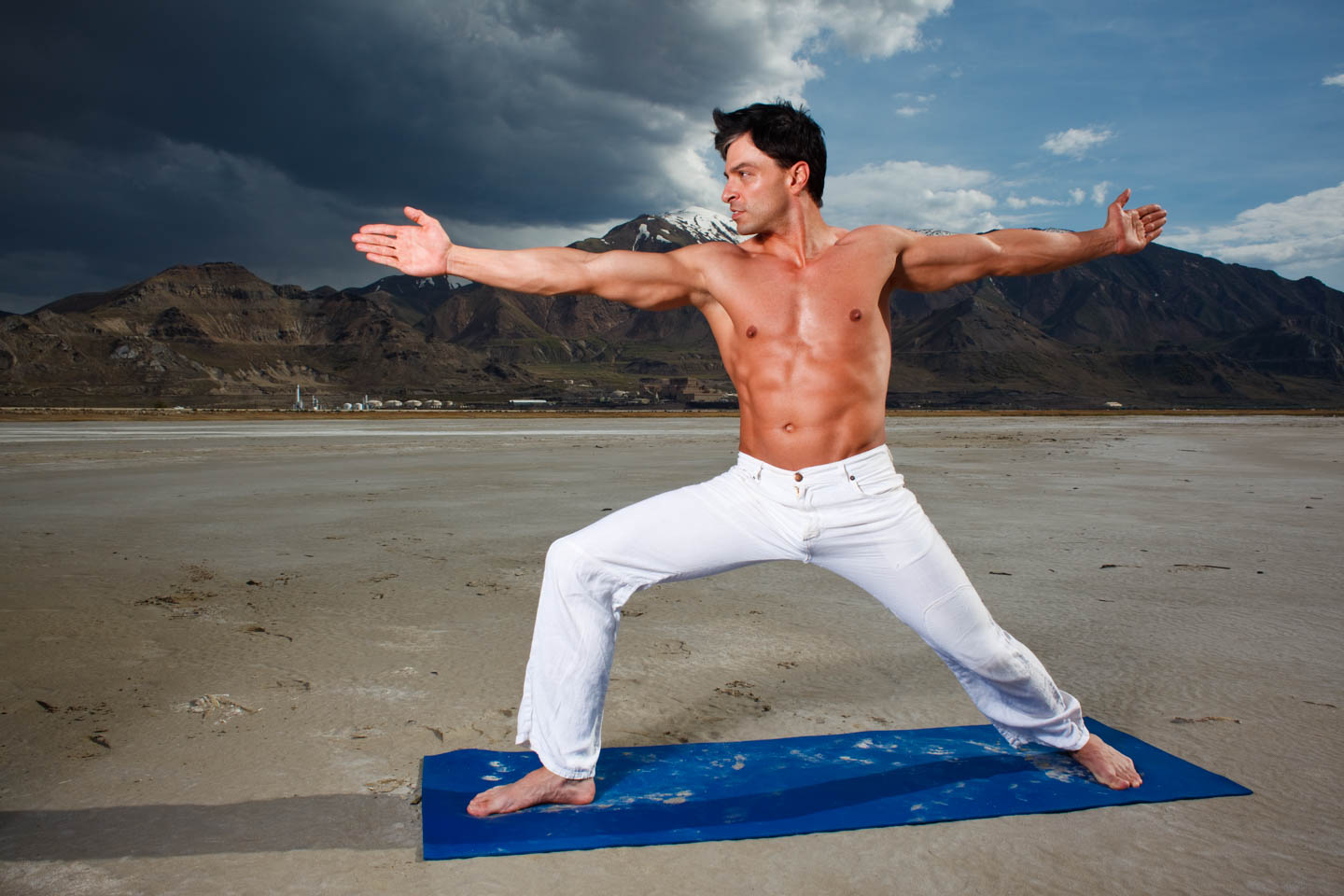 Yoga on the Great Salt Lake's Beach