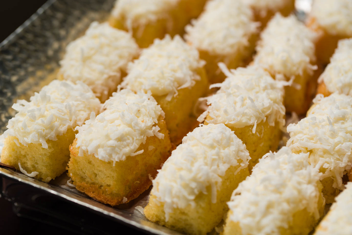Homemade twinkies with coconut