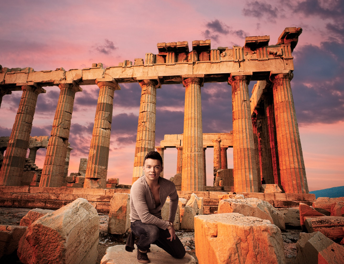Julio at the Acropolis of Athens in Greece