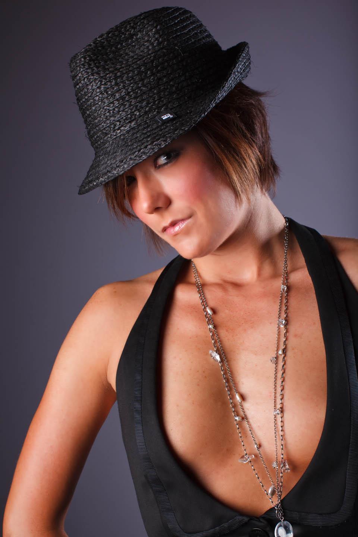 Kristin models an edgy look