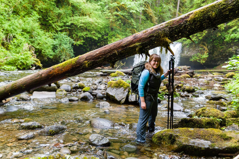 Nicolesy at Upper Butte Creek Falls in Oregon